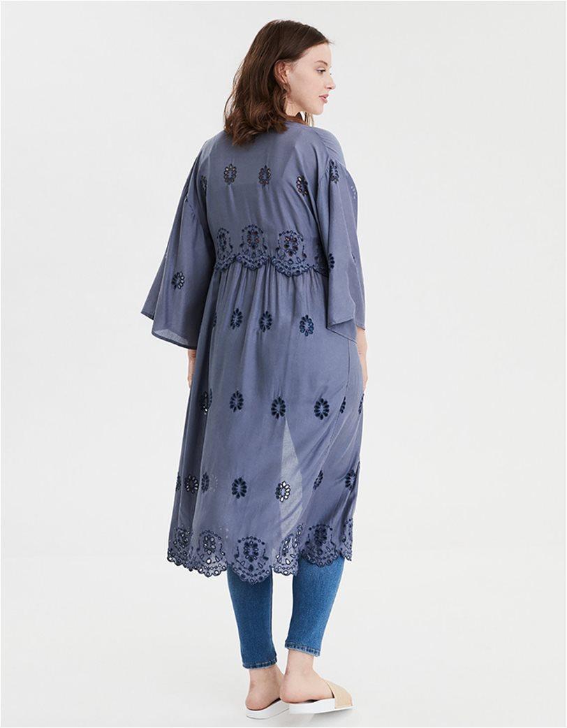AE Embroidered Kimono Μπλε 1