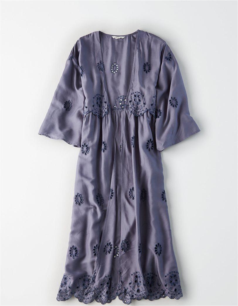 AE Embroidered Kimono Μπλε 2