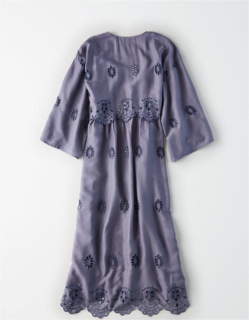 AE Embroidered Kimono Μπλε 3