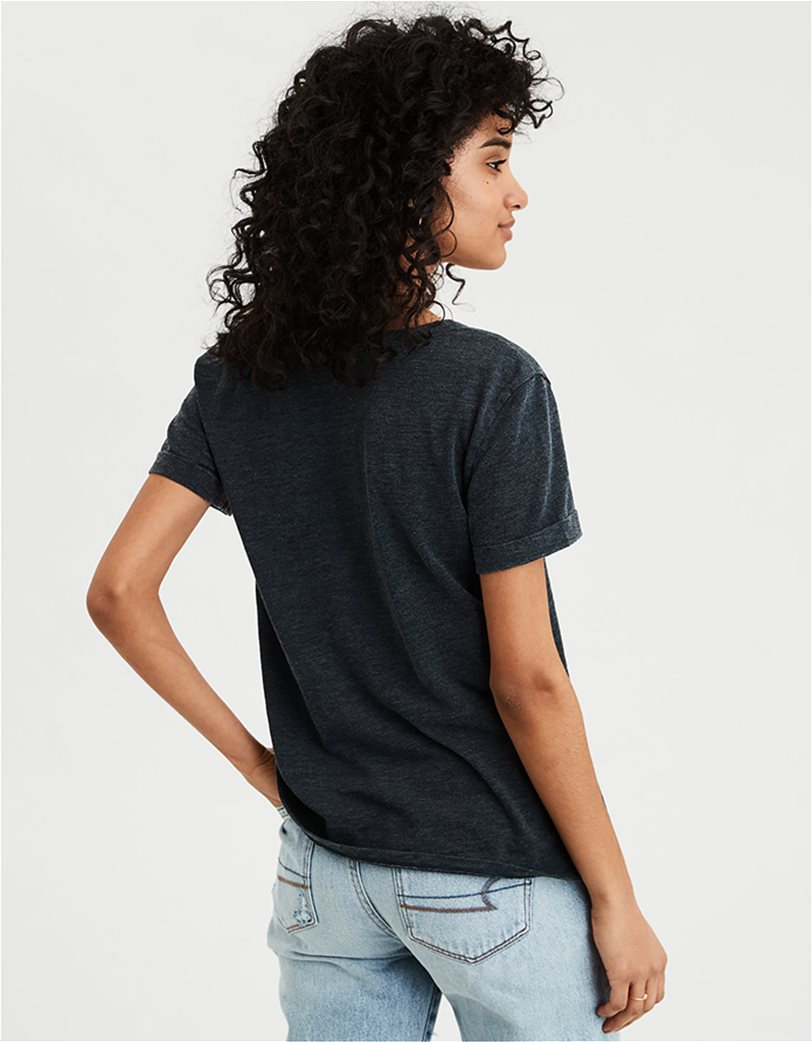 AE V-Neck Favorite T-Shirt Μαύρο 1