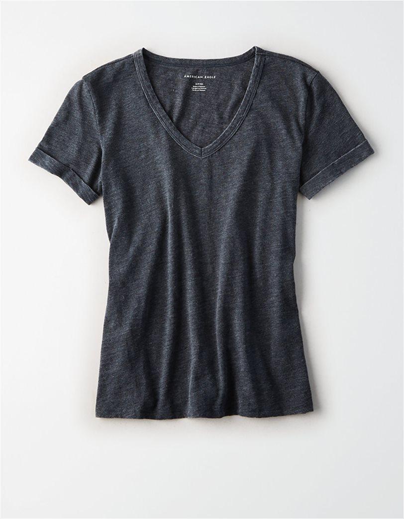 AE V-Neck Favorite T-Shirt Μαύρο 2