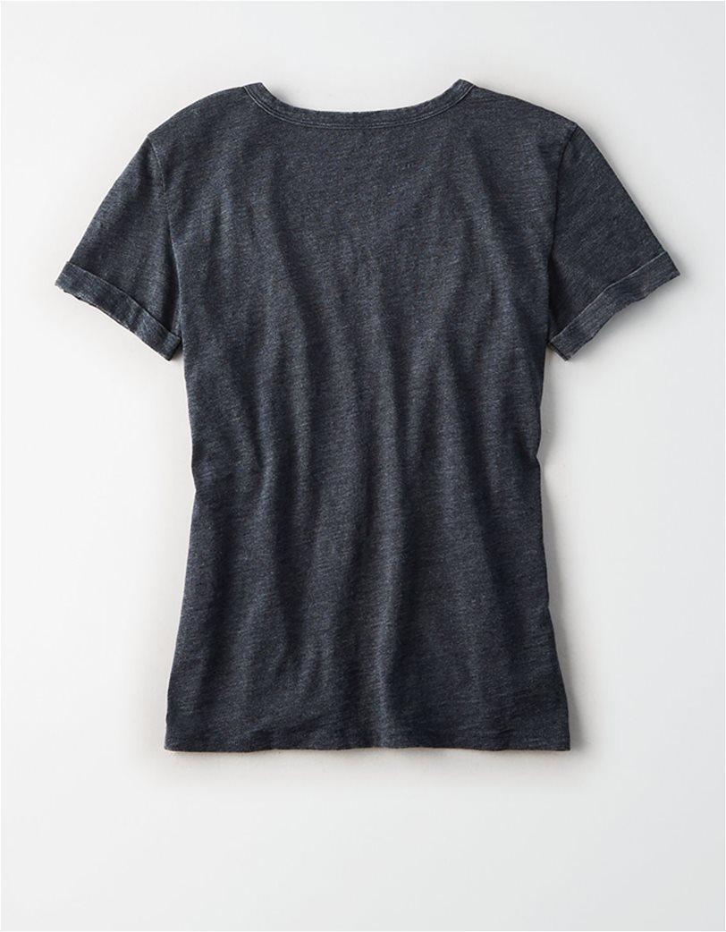 AE V-Neck Favorite T-Shirt Μαύρο 3