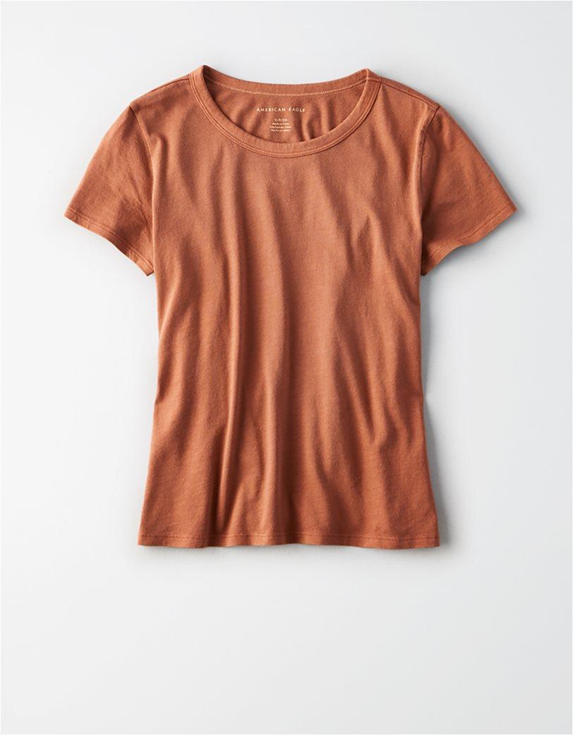 AE Crew Neck Favorite T-Shirt Κεραμιδί 2