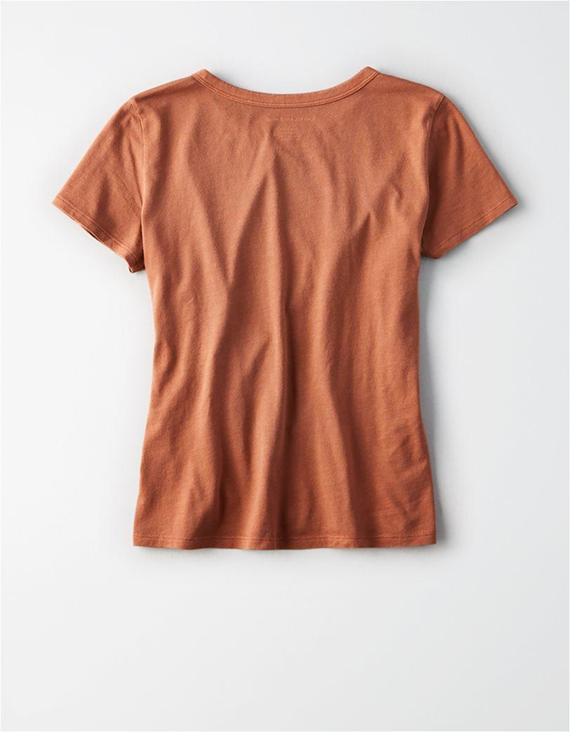 AE Crew Neck Favorite T-Shirt Κεραμιδί 3