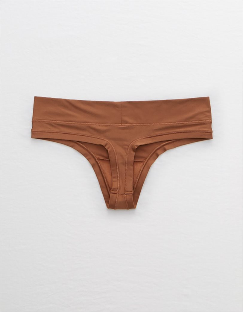 Aerie Real Me Thong Καφέ 1