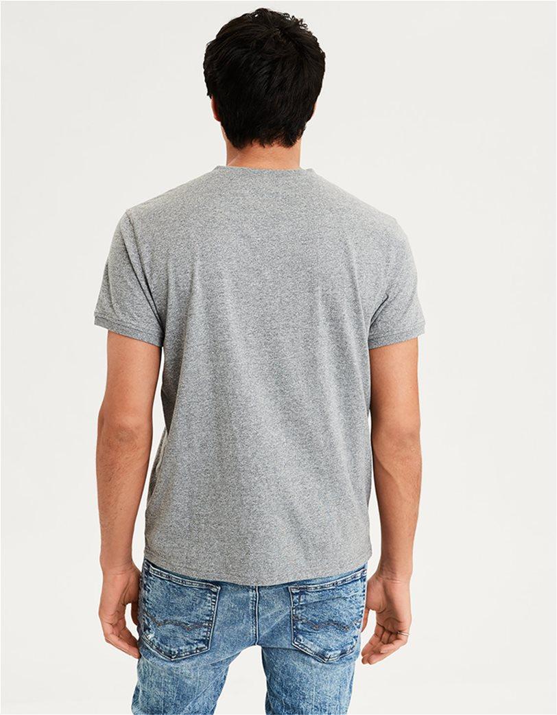 AE Logo Slub Henley T-Shirt Ανθρακί 1