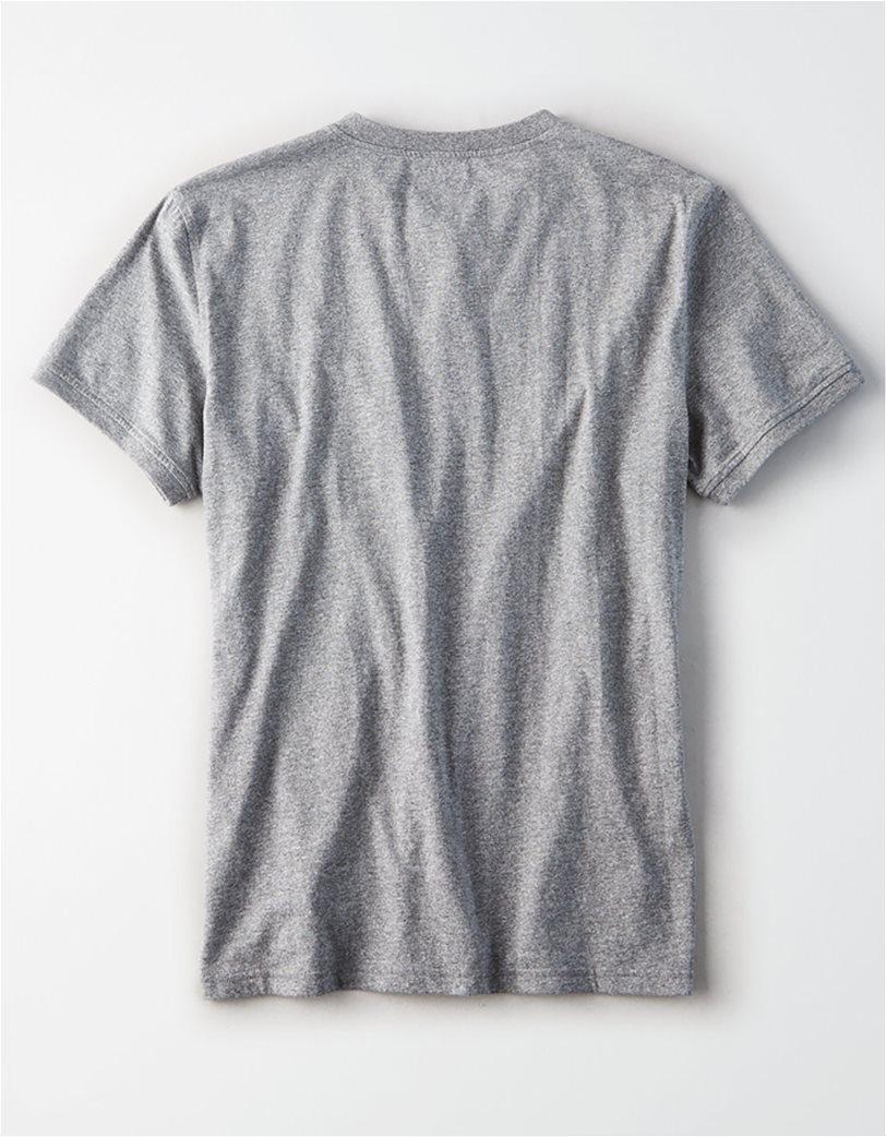 AE Logo Slub Henley T-Shirt Ανθρακί 3