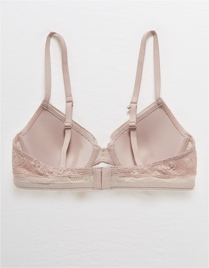 Aerie Real Happy Full Coverage Lightly Lined Bra Nude 4