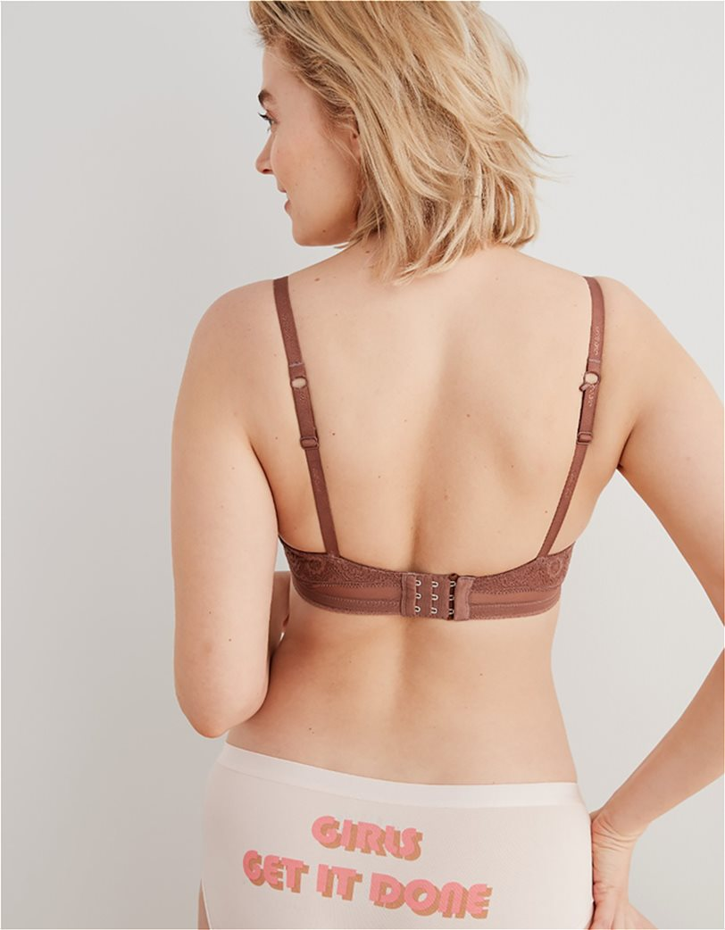 Aerie Real Happy Full Coverage Lightly Lined Bra Κεραμιδί 1