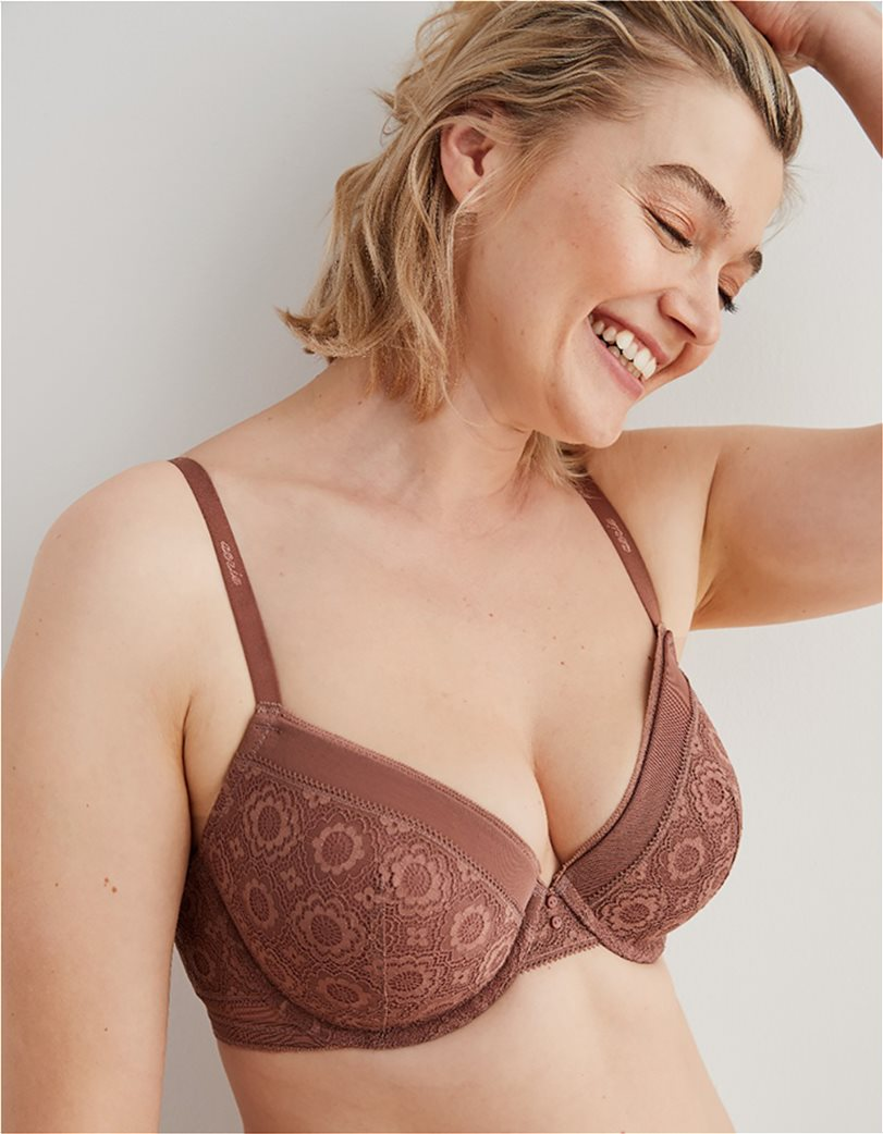 Aerie Real Happy Full Coverage Lightly Lined Bra Κεραμιδί 2