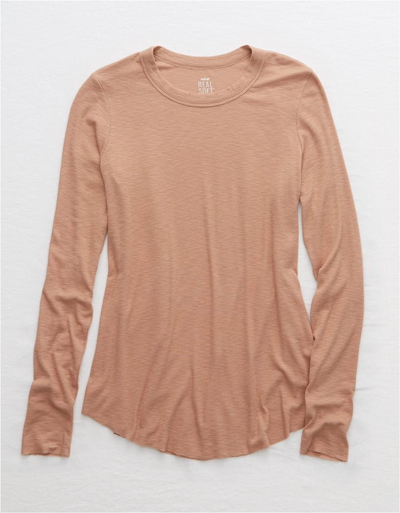 Aerie Ribbed Long Sleeve T-Shirt 2