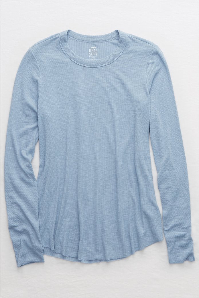 Aerie Ribbed Long Sleeve T-Shirt 0