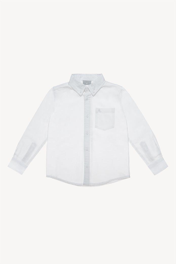 Alouette παιδικό πουκάμισο μονόχρωμο με τσέπη 0