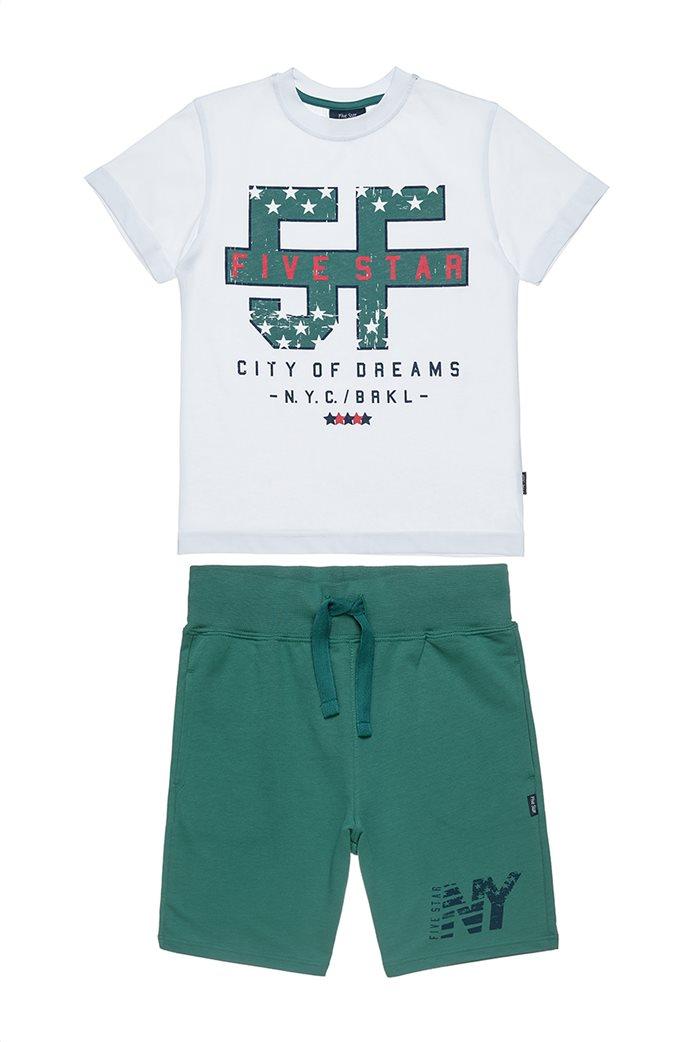 Αlouette παιδικό σετ μπλούζα με τύπωμα και βερμούδα  Five Star (6-14 ετών) 0