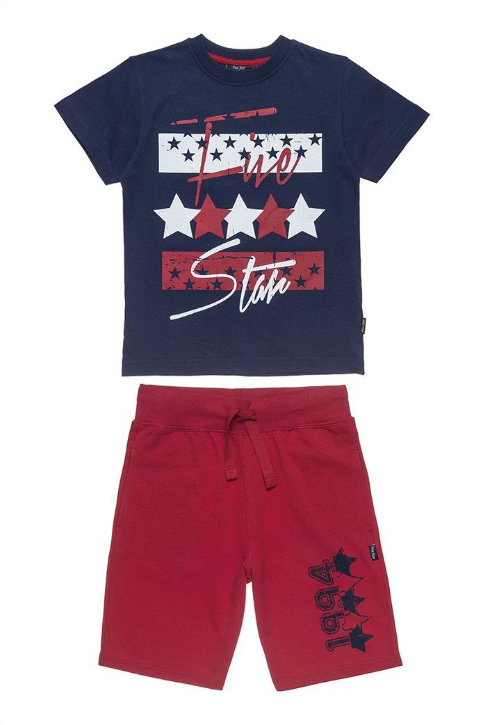 Αlouette παιδικό σετ μπλούζα με τύπωμα και βερμούδα  Five Star (6-16 ετών) 0