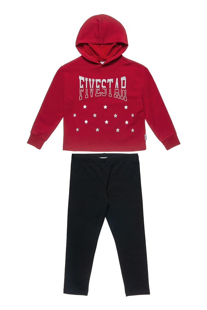 "Alouette παιδικό σετ με φούτερ και κολάν ""Five Star"" (6-14 ετών) 0"