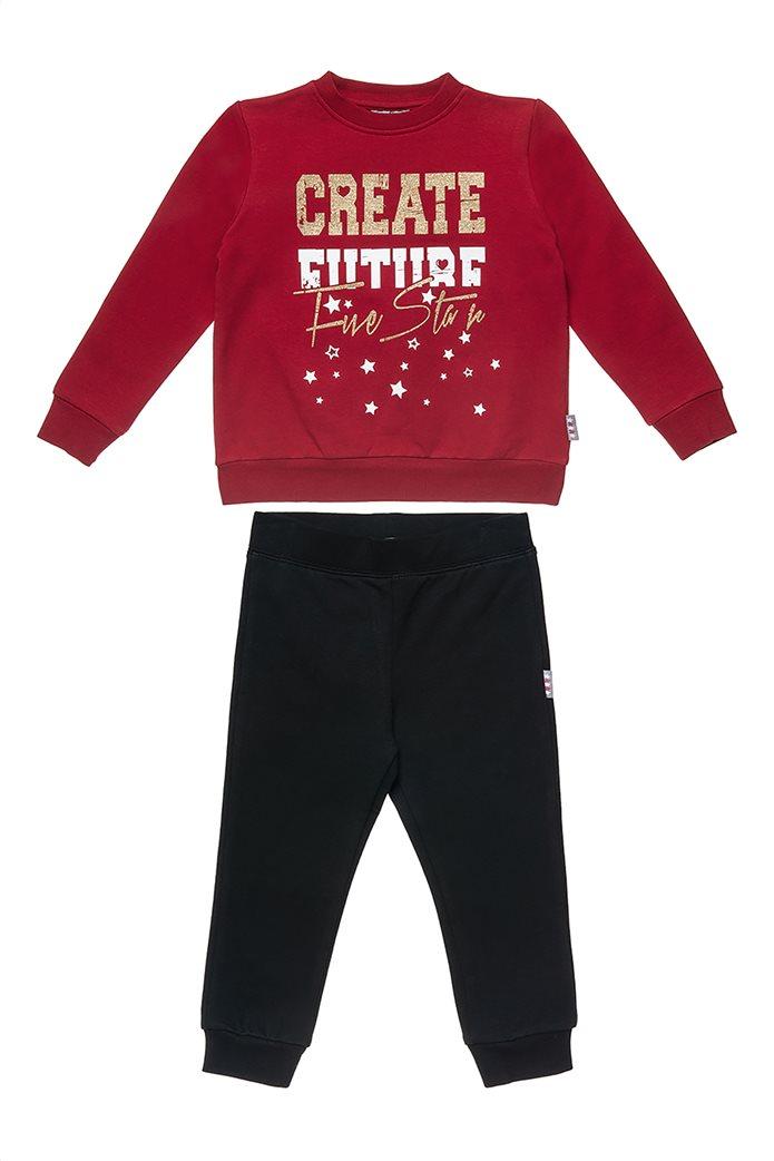 """Alouette βρεφικό σετ ρούχων φόρμας και μπλούζας με μεταλλιζέ letter print """" Five Star"""" (12 μηνών-5 ετών) 0"""