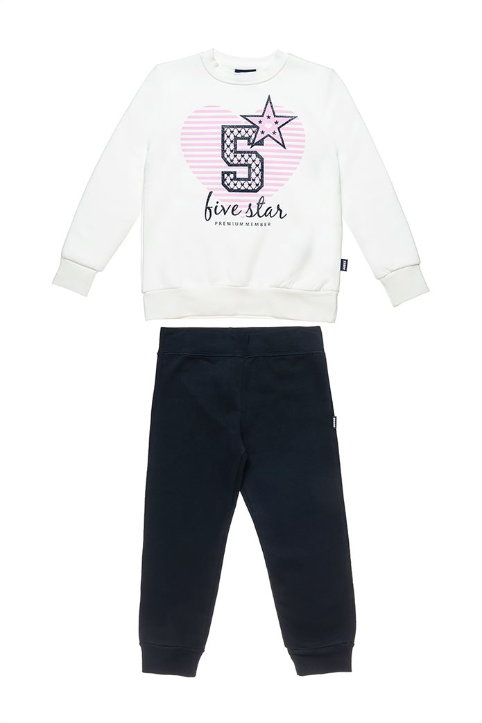 "Alouette παιδικό σετ φόρμας με μπλούζα με καρδιά print "" Five Star"" (6-16 ετών) 0"