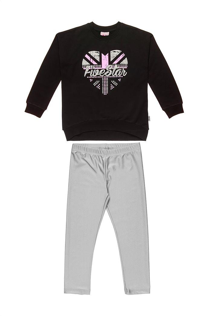 "Alouette παιδικό σετ ρούζων με μπλούζα με print και μεταλλιζέ κολάν ""Five Star"" (6-16 ετών) 0"