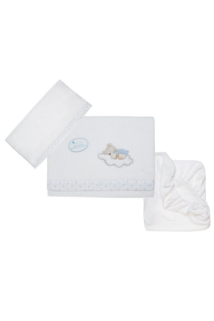 Alouette βρεφικό σετ 3 τμχ (μαξιλαροθήκη 60x30 - κουβέρτα 152x102 - σεντόνι με λάστιχο 120x60) 0