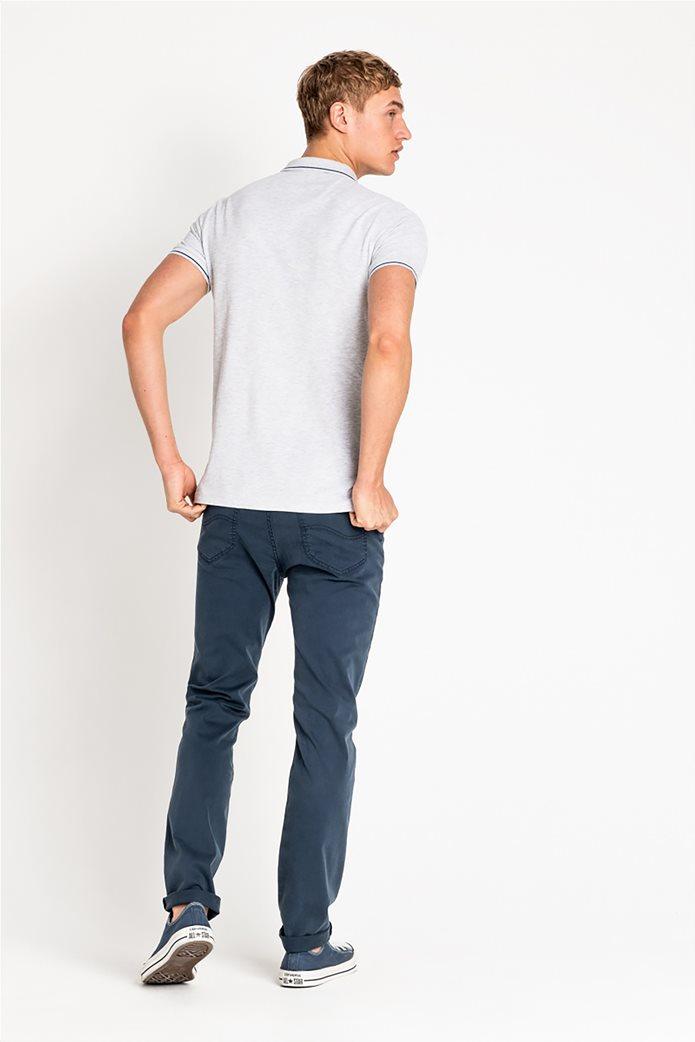 Lee ανδρική πικέ πόλο μπλούζα με ριγέ λεπτομέρειες 1