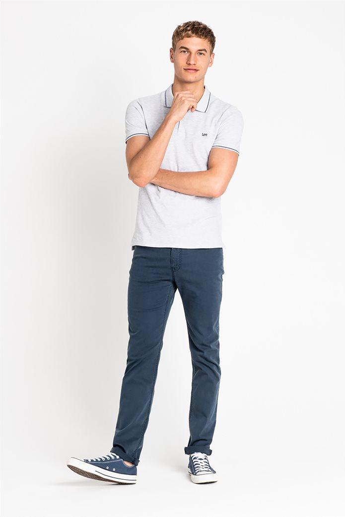 Lee ανδρική πικέ πόλο μπλούζα με ριγέ λεπτομέρειες 2