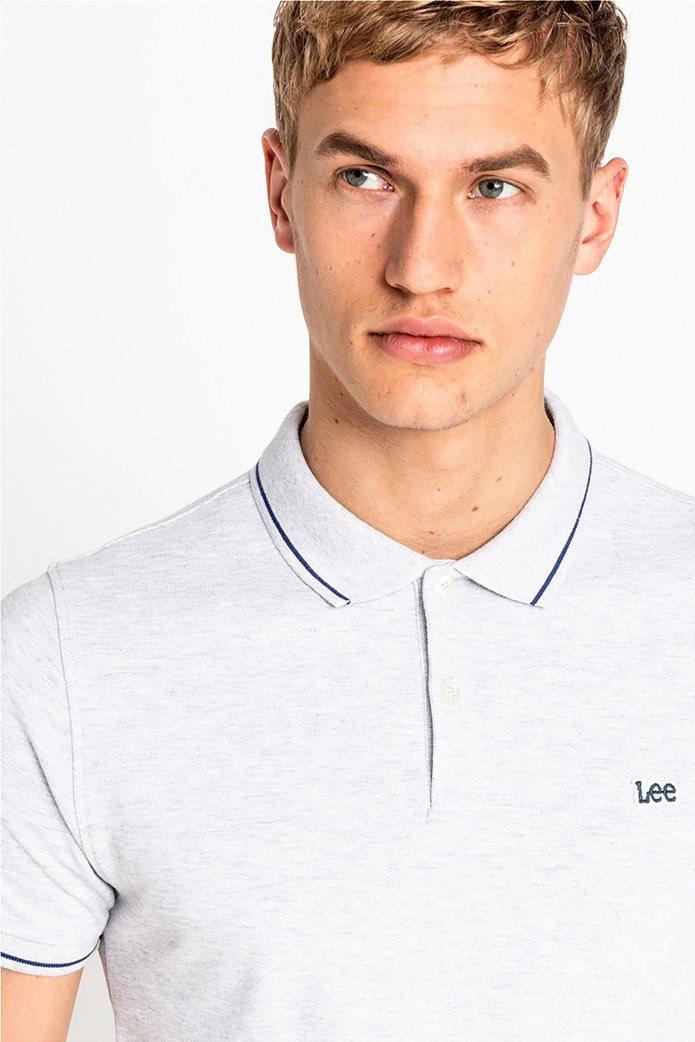 Lee ανδρική πικέ πόλο μπλούζα με ριγέ λεπτομέρειες 3