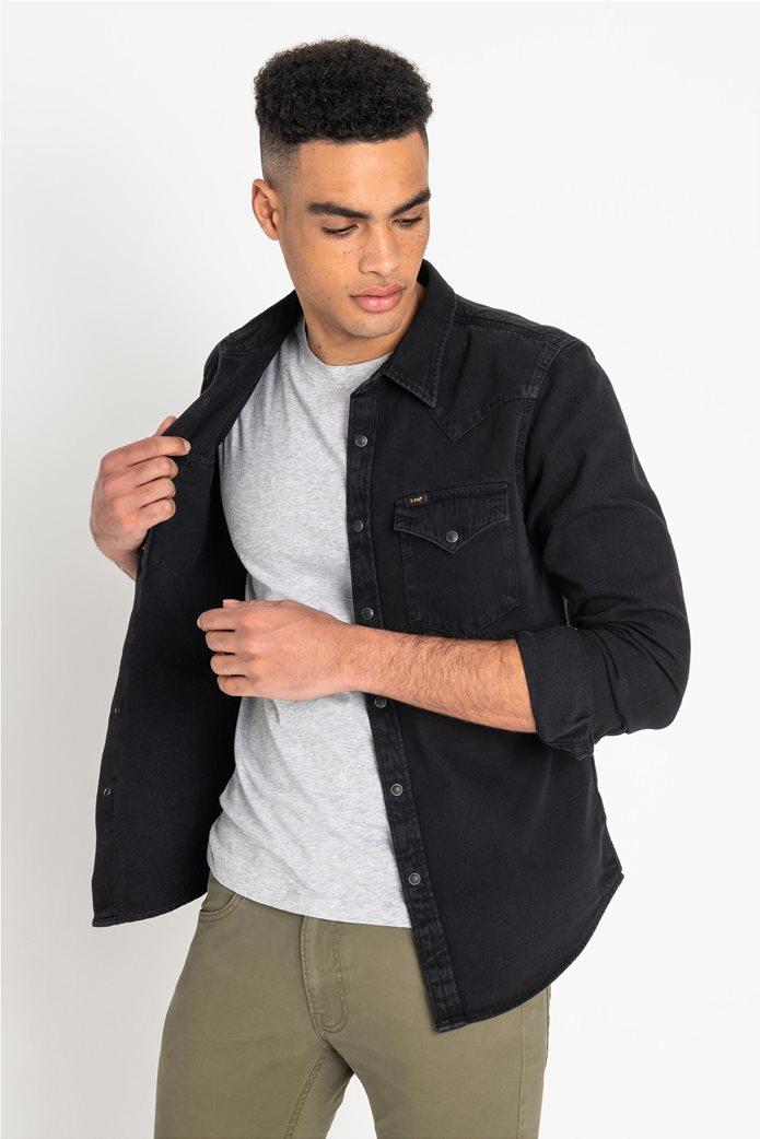Lee ανδρικό μονόχρωμο πουκάμισο Western 0