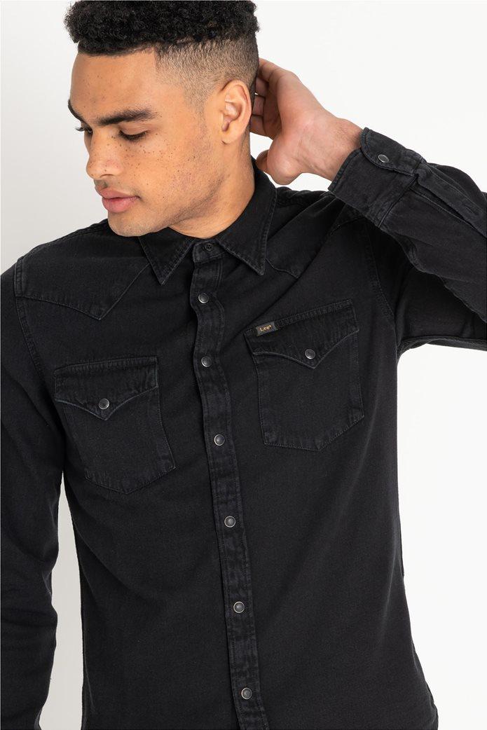 Lee ανδρικό μονόχρωμο πουκάμισο Western 1