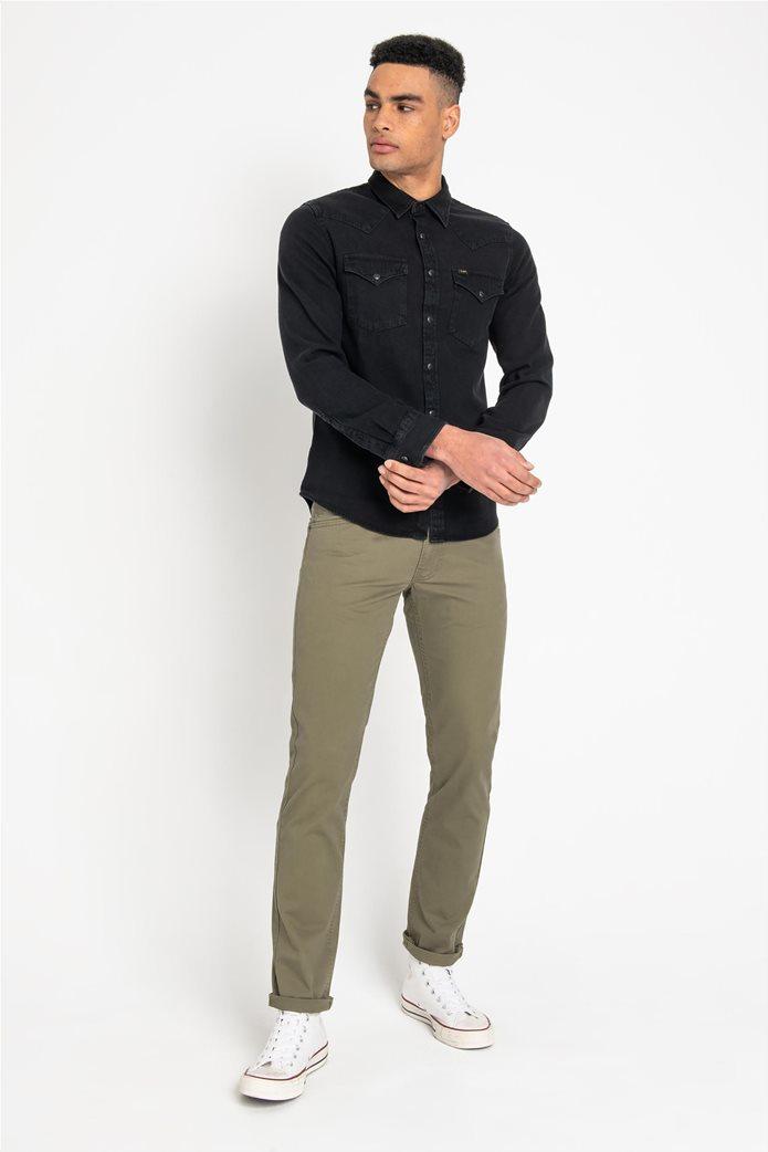 Lee ανδρικό μονόχρωμο πουκάμισο Western 2