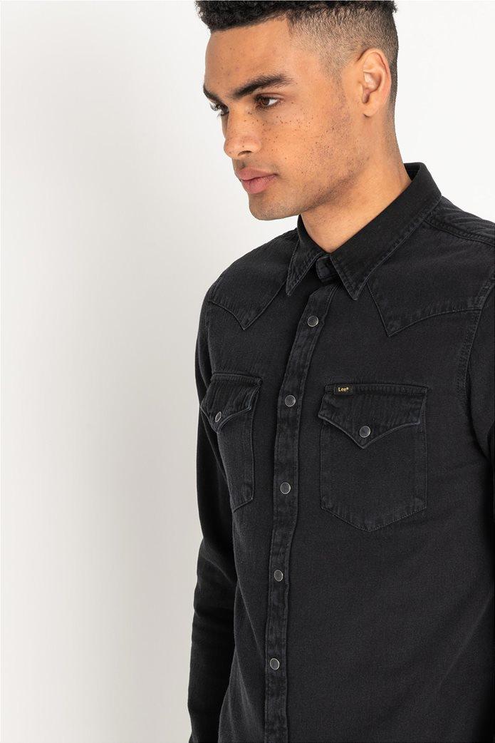 Lee ανδρικό μονόχρωμο πουκάμισο Western 4