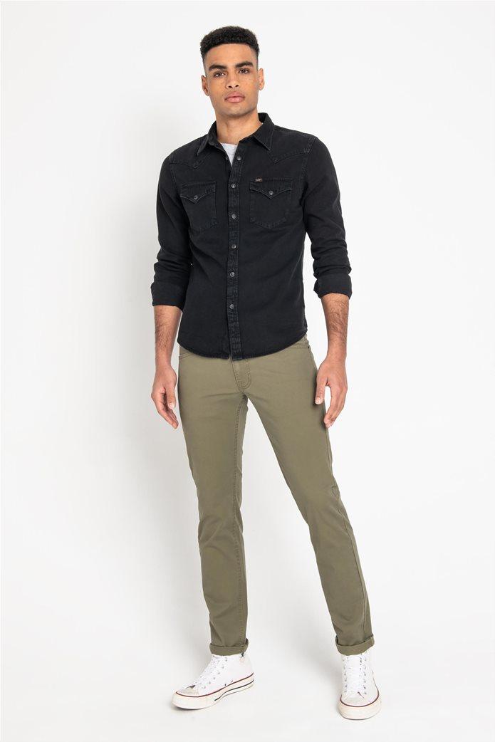 Lee ανδρικό μονόχρωμο πουκάμισο Western 5