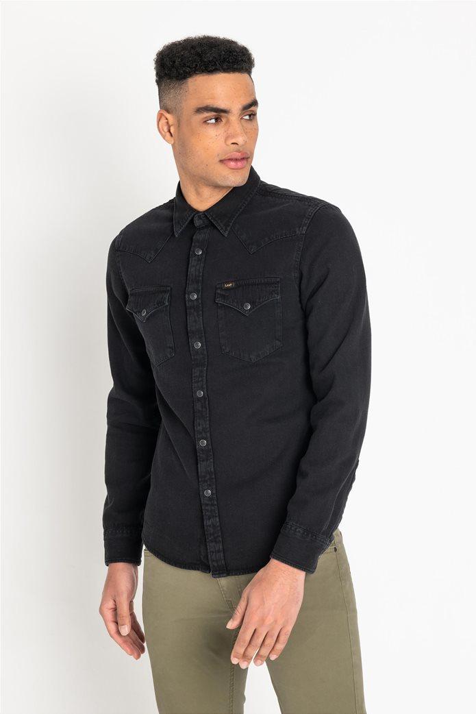 Lee ανδρικό μονόχρωμο πουκάμισο Western 7