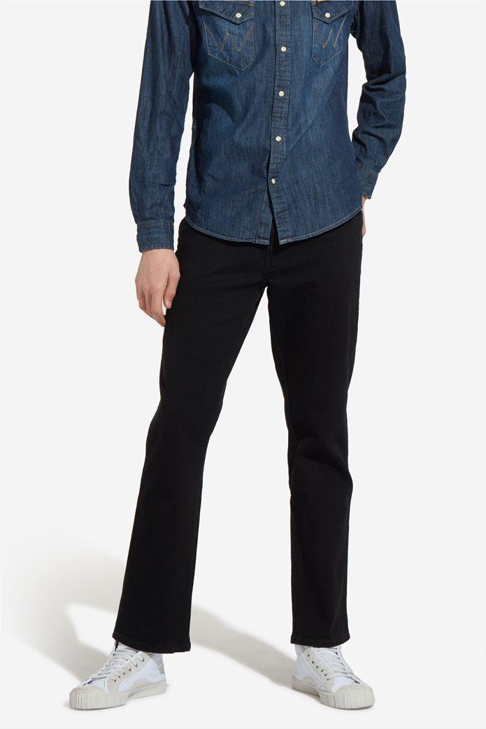 Wrangler ανδρικό μαύρο παντελόνι Texas Stretch 1