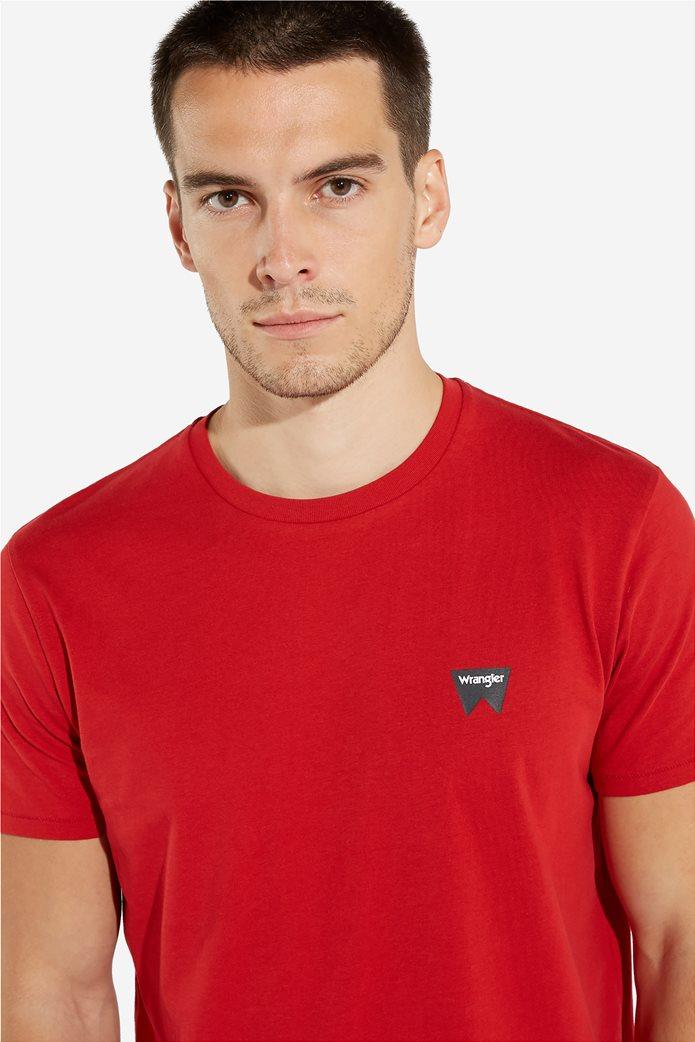 WranglerανδρικόT-shirt Sign Off TeeScarlet Red 3