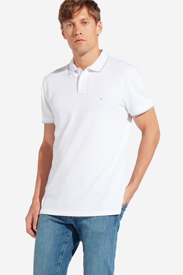Wrangler ανδρική μπλούζα PoloWhite 0