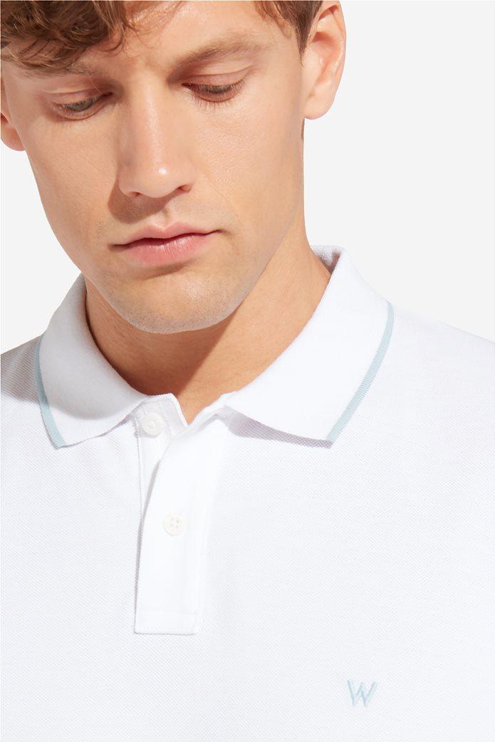 Wrangler ανδρική μπλούζα PoloWhite 3