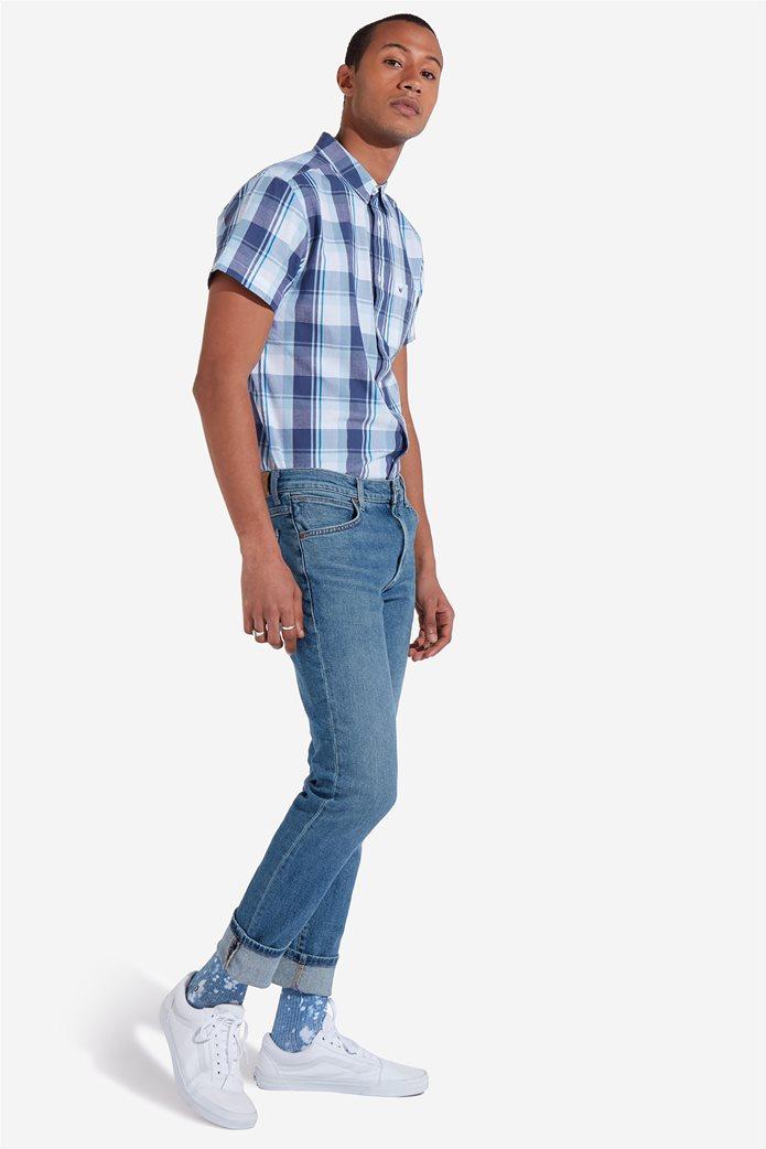 Wrangler ανδρικό τζην παντελόνι Larston Blue Charm 0