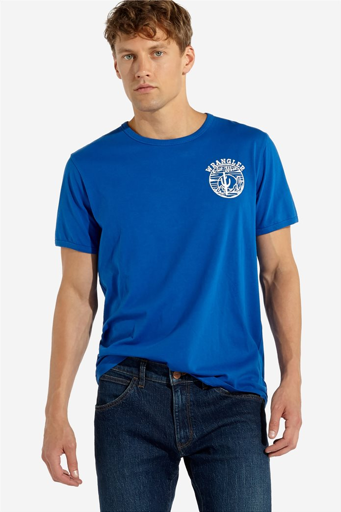 """Wrangler ανδρικό T-shirt με στάμπα """" Desert """" 0"""