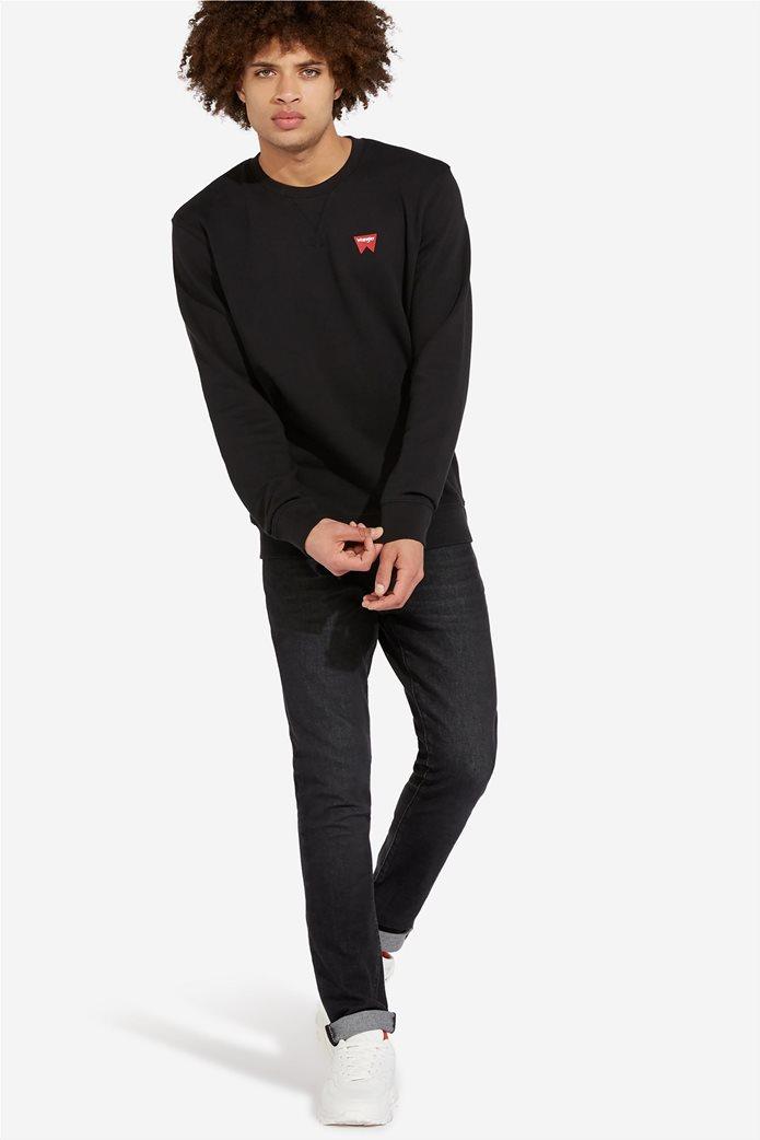 """Wrangler ανδρική μπλούζα μονόχρωμη με logo print """" Sign off """" 0"""