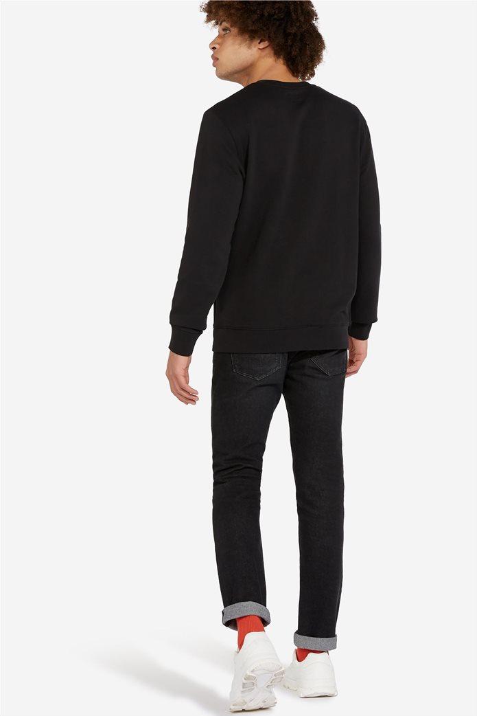 """Wrangler ανδρική μπλούζα μονόχρωμη με logo print """" Sign off """" 3"""