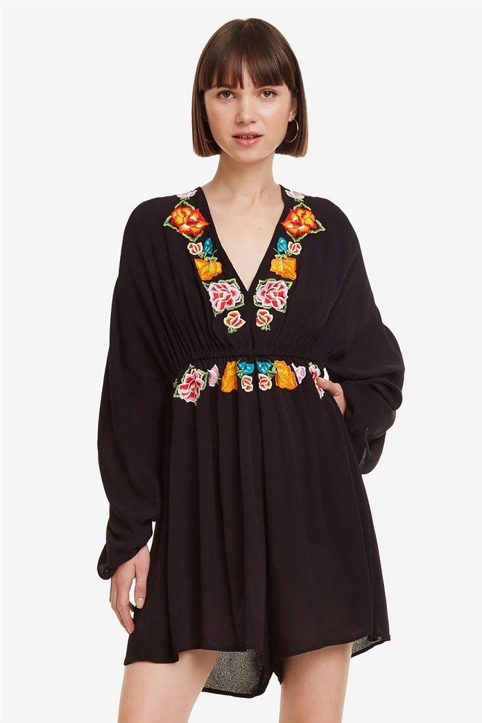 Desigual γυναικεία ολόσωμη φόρμα με κεντήματα Soraya 2