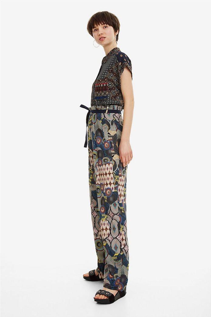 Desigual γυναικεία παντελόνα με ζωνάκι Debora 1