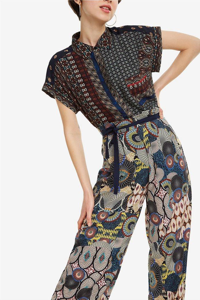 Desigual γυναικεία παντελόνα με ζωνάκι Debora 2