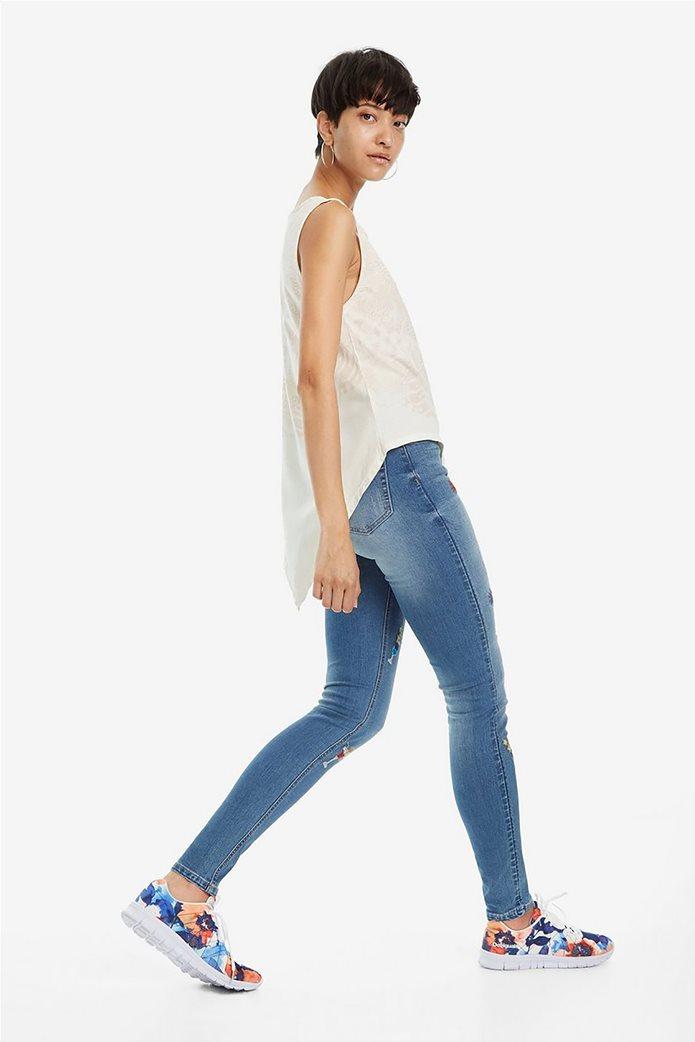 Desigual γυναικεία αμάνικη μπλούζα με ασύμμετρο τελείωμα Leeds 1
