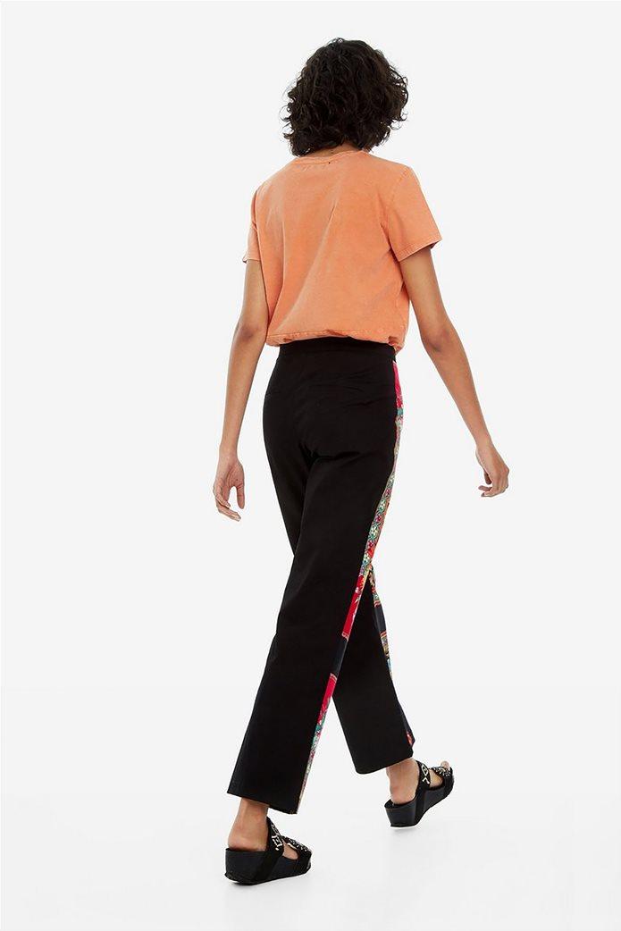 Desigual γυναικεία παντελόνα cropped με print 3