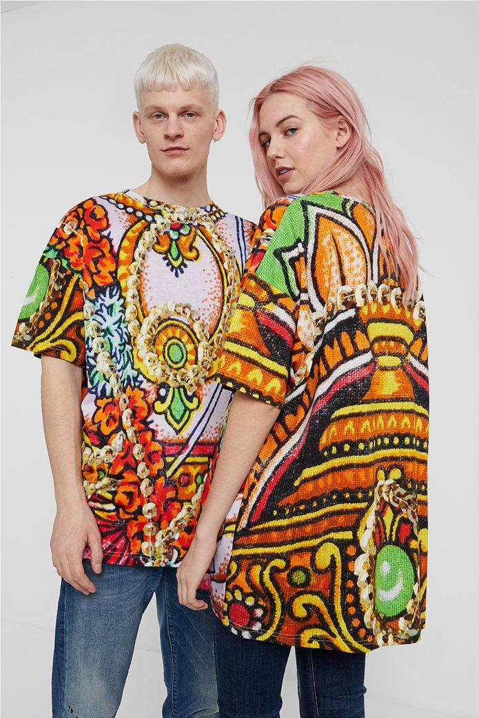 "Desigual unisex μπλούζα με Hindu print ""Ganesha"" 0"