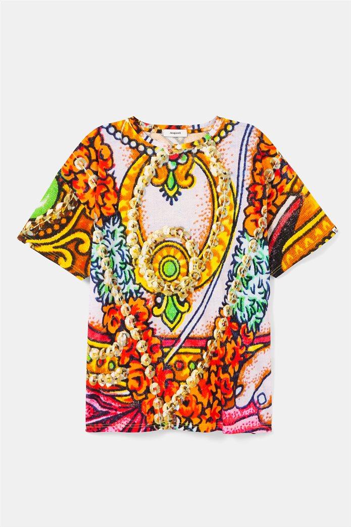 "Desigual unisex μπλούζα με Hindu print ""Ganesha"" 3"