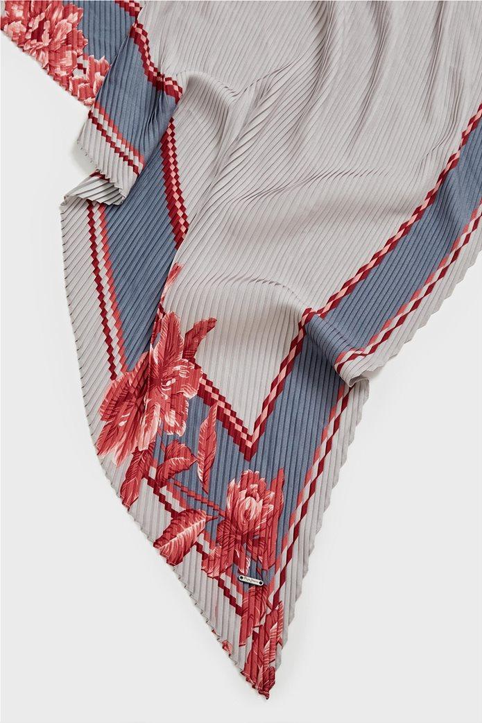 Pepe Jeans γυναικείο floral  φουλάρι με ανάγλυφη υφή 1