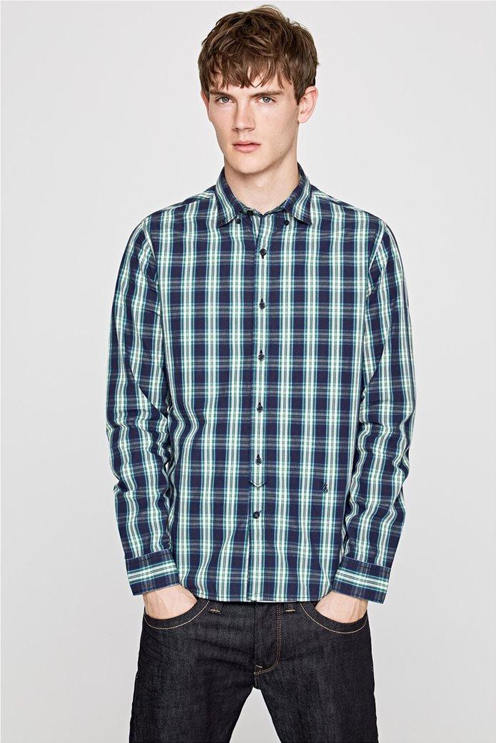 Pepe Jeans ανδρικό καρό πουκάμισο Slim fit Chandler 0